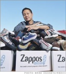 It's like Tony Hsieh was sitting outside the house when we ordered Tyler's shoes.