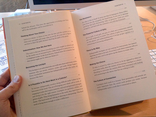 Must read the linchpin seth godin table of contents for Text table design